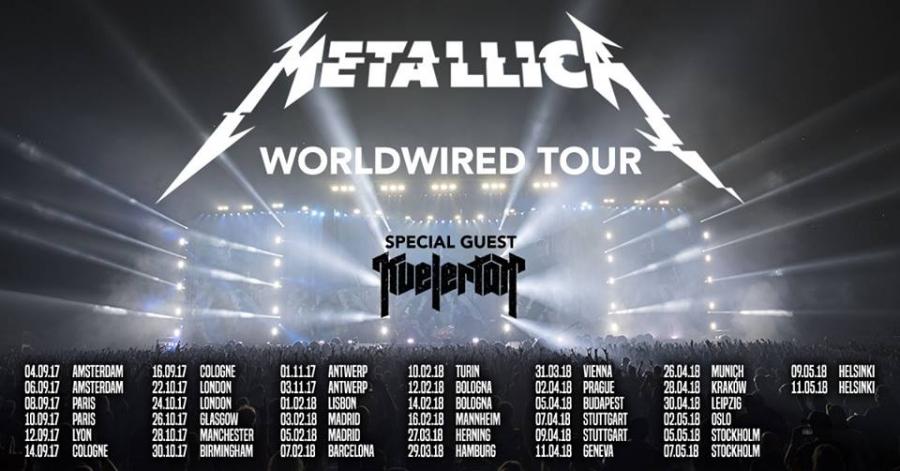 I Metallica di nuovo in concerto per il loro WorldWired tour