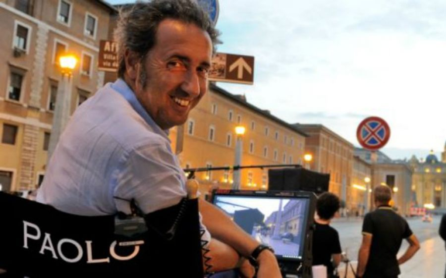 Il regista Paolo Sorrentino sul set di The young pope