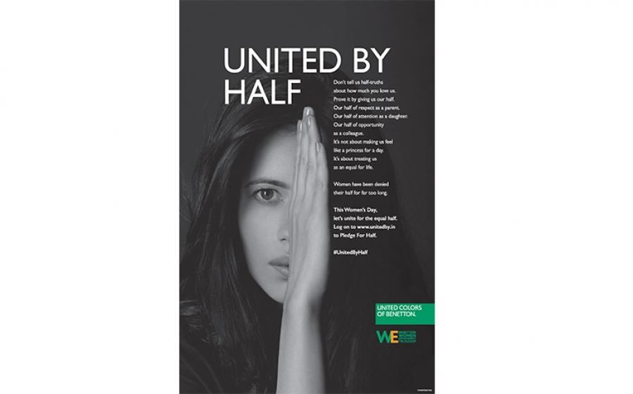 Benetton lancia una nuova campagna sulla parità di genere in India e sceglie l'otto marzo per dare visibilità globale