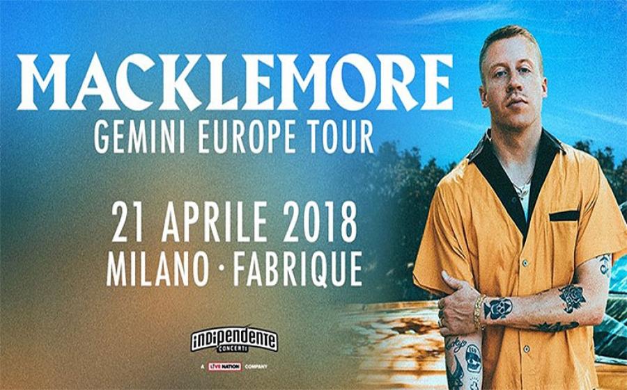 21 e 22 Aprile al Fabrique, Milano: Macklemore in concerto con il suo Gemini Tour