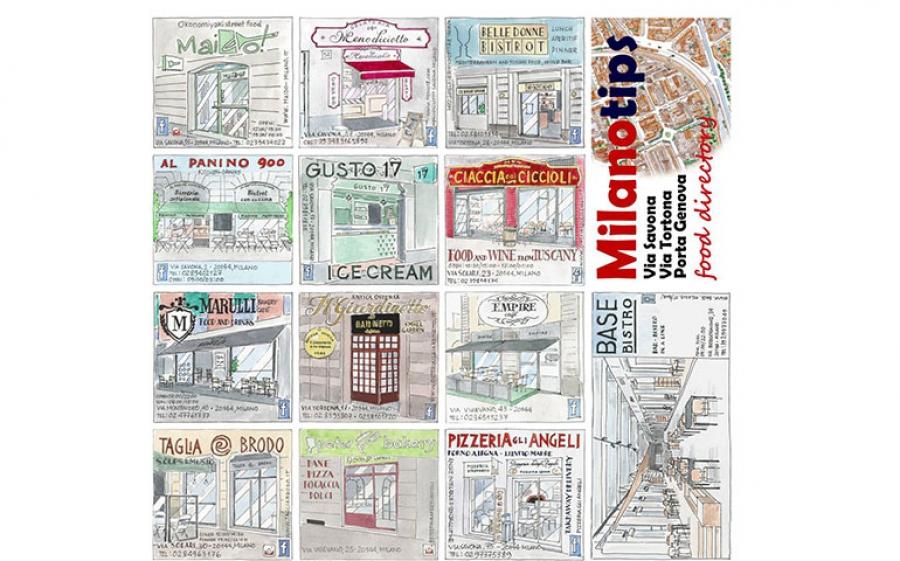 Milano Tips, la food directory della zona Tortona disegnata da Mario Camerini