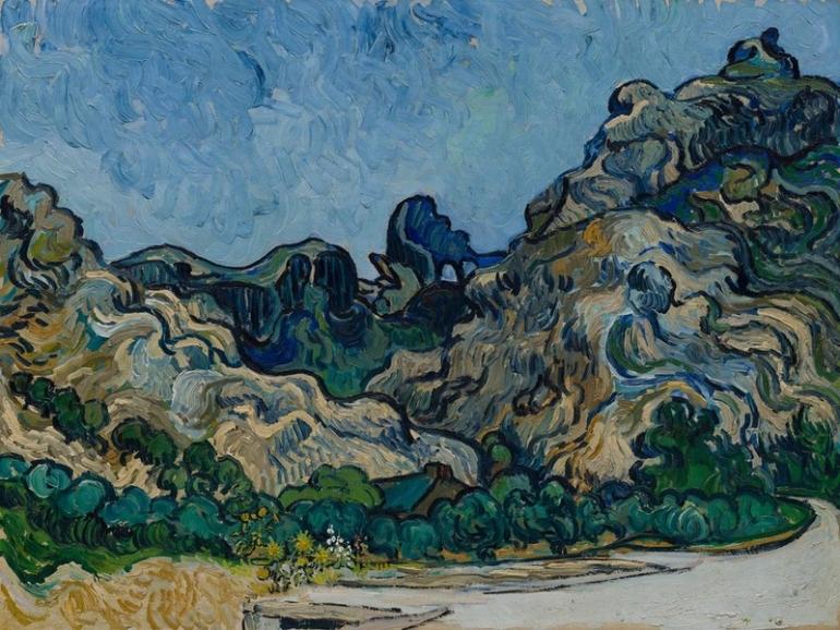 Vincent Van Gogh, Montagne a Saint-Rémy (1889)