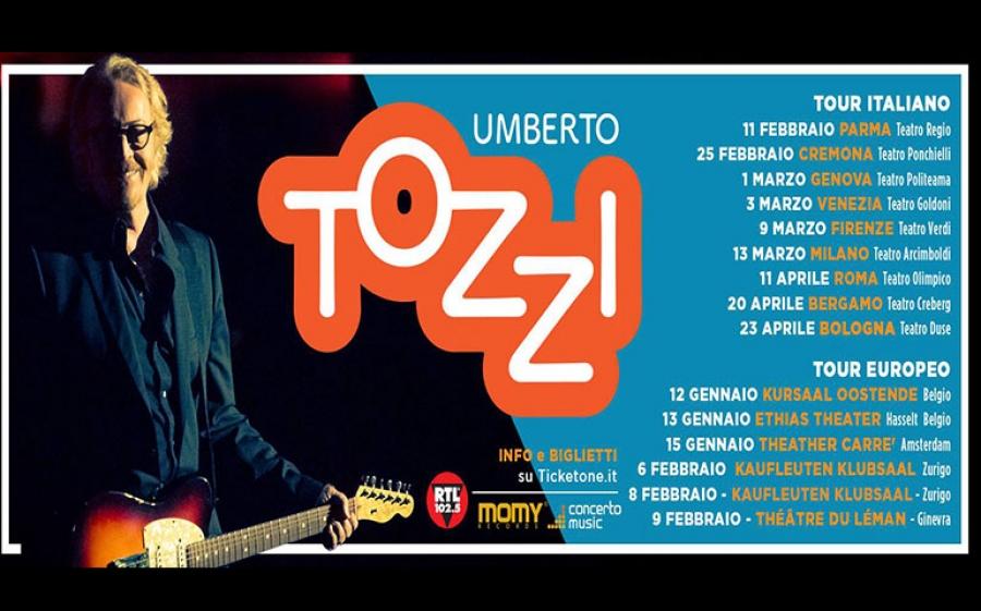 Nuovo tour per Umberto Tozzi che riparte dai teatri italiani