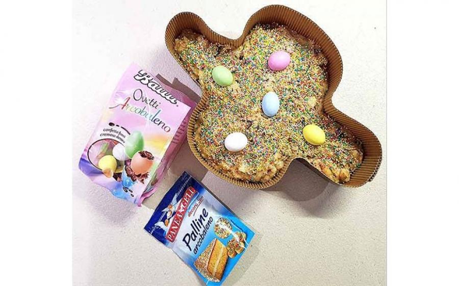 Ricetta della Colomba di Pasqua con gocce di cioccolato, zuccherini e ovetti
