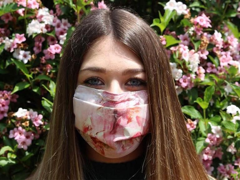 La mascherina d'arte che diventa solidale: Mask-In for Elisabetta Rogai
