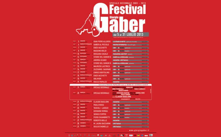 Festival Giorgio Gaber – Speciale decennale 2003/2013