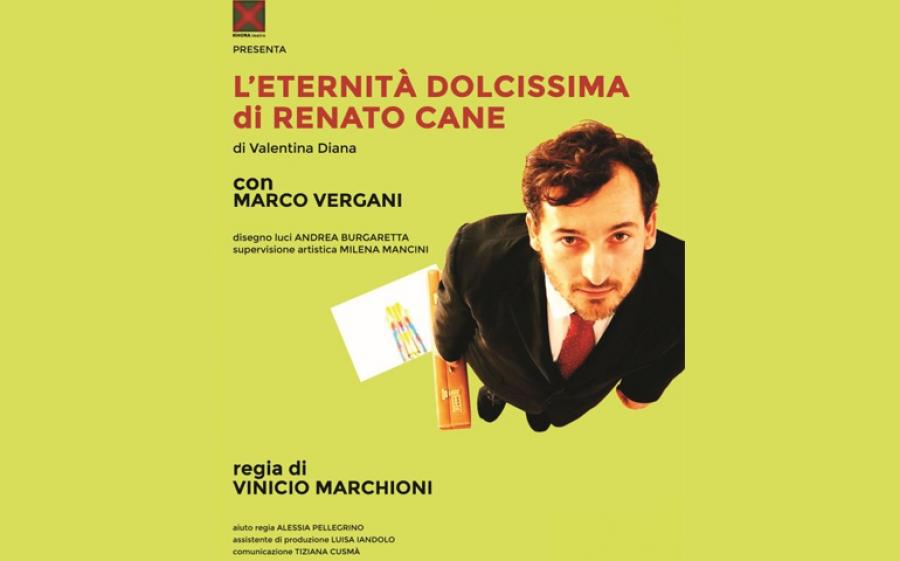 L'eternità dolcissima di Renato Cane, al Teatro Puccini arriva lo spettacolo con Marco Vergani