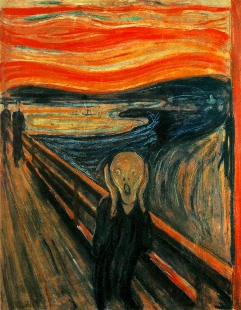 L'Urlo (titolo originale: Skrik), opera del pittore norvegese Edvard Munch