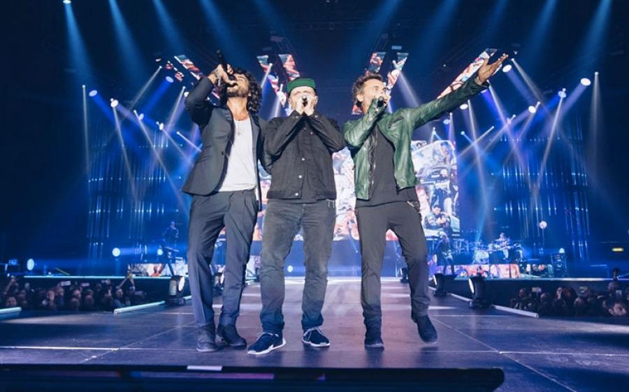 Il trio Pezzali, Nek e Renga in concerto all'Arena di Verona il 28 aprile