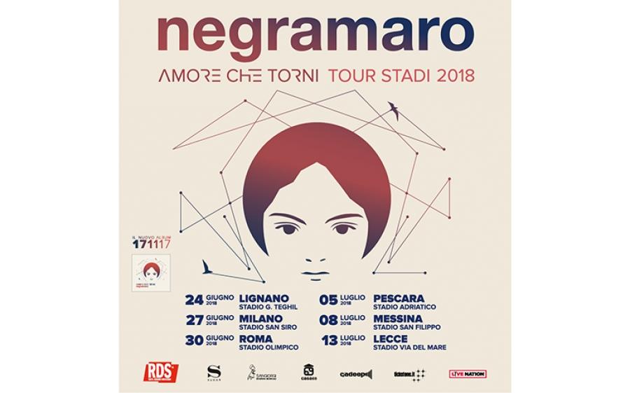 """""""Amore che torni Tour 2018"""": l'estate dei Negramaro negli stadi"""