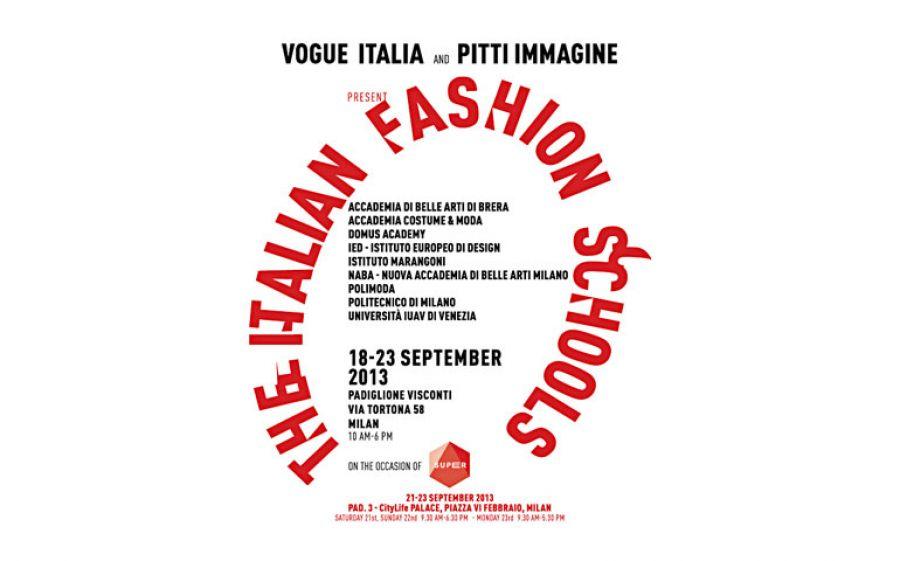 """Vogue Italia e Pitti immagine presentano """"The Italian Fashion Schools"""""""