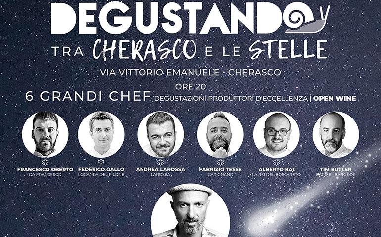 Sabato 15 giugno sei grandi chef presentano Degustando tra Cherasco e le Stelle