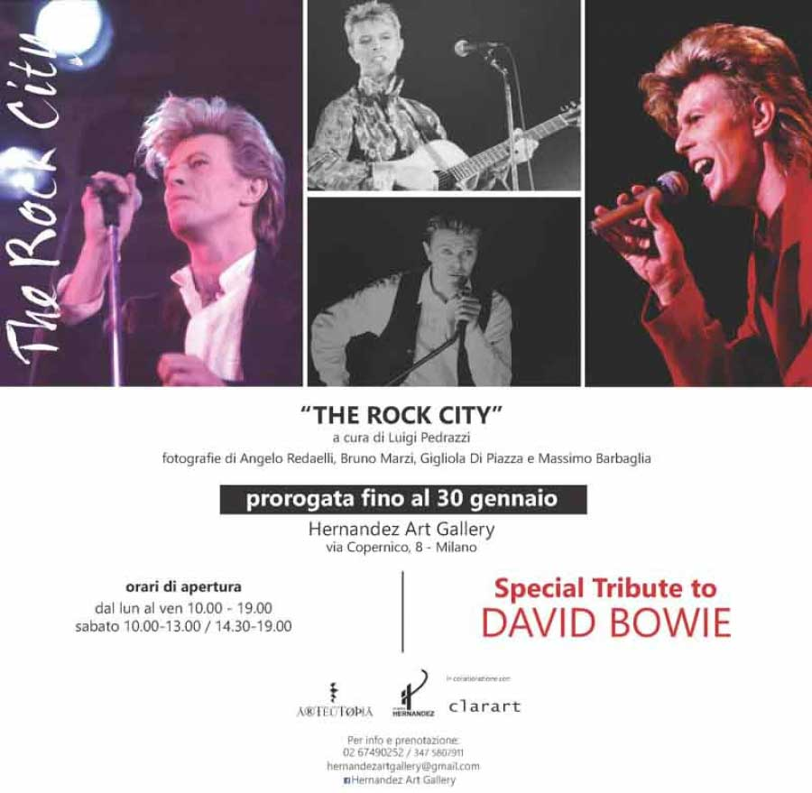 THE ROCK CITY. Omaggio a David Bowie