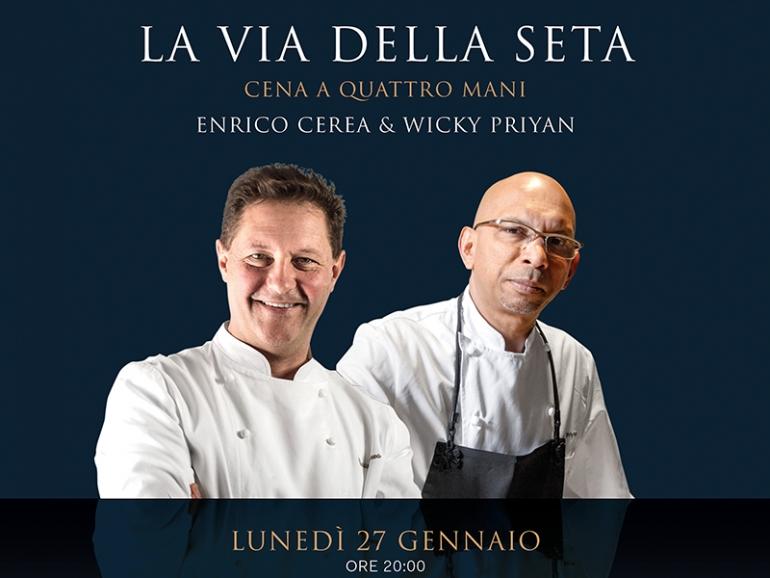 La Via della Seta: cena a quattro mani con Wicky Priyan ed Enrico Cerea