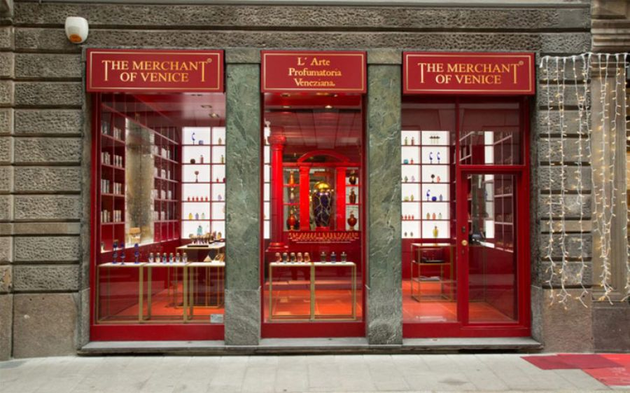 The Merchant of Venice, profumi di lusso inebriano Milano