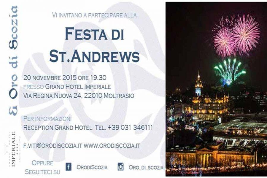Oro di Scozia organizza la Festa di St. Andrew