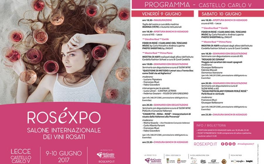Quarta edizione di Roséxpo a Lecce: la kermesse dedicata al vino.