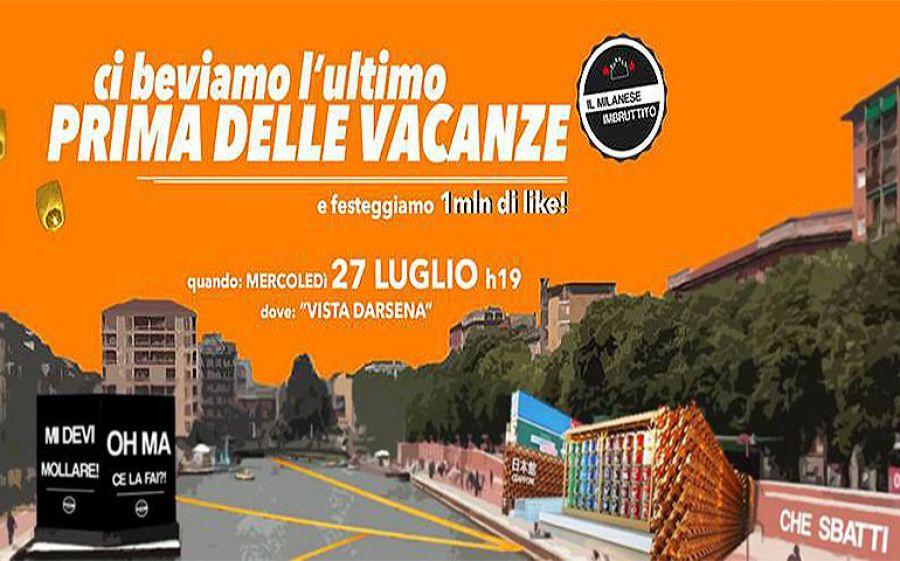 Aperitivo del Milanese Imbruttito Summer Edition in Vista Darsena