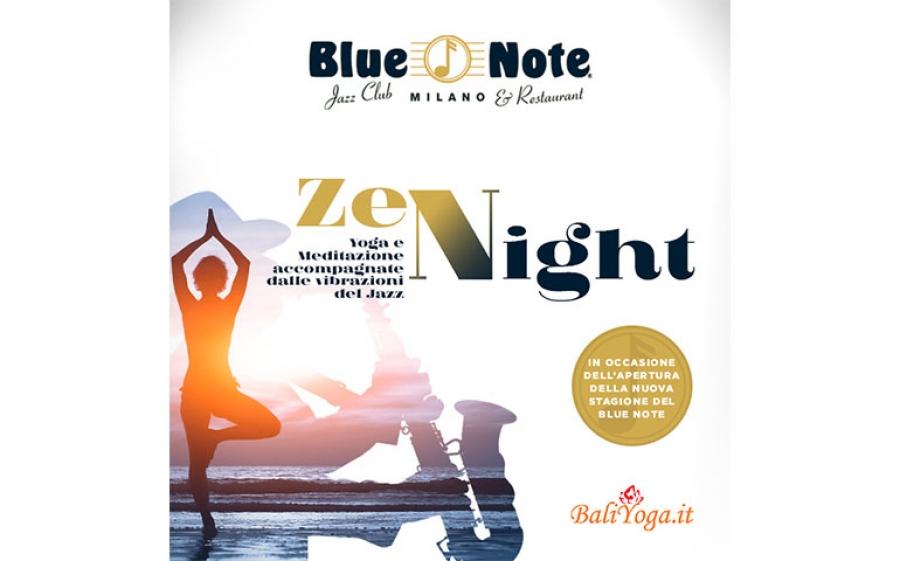 Il Blue Note Milano, l'elegante jazz club, ospita una serata speciale a base di musica e yoga